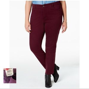 STYLE & CO NWT Berry Jam High Rise Skinny Jeans